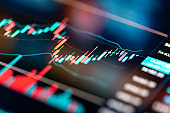Stock Exchange Trading Charts Close-up