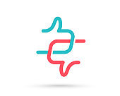 Like and Dislike logo vector design. Thumb up hand icon. Approve or Reject button. Social media reaction. Vector