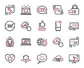 Vector Set of Technology icons related to Quick tips, Target path and Graph chart. Vector