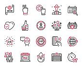 Vector Set of Business icons related to Fireworks stars, Headhunting and Vip star. Vector