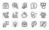 Business icons set. Included icon as Spanner, Tips, Video conference. Vector