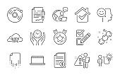 Good mood, Business idea and Chemical formula icons set. Laptop, Vinyl record and Recovery file signs. Vector