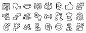 Set of People icons, such as Market seller, Lightweight, Freezing click. Vector