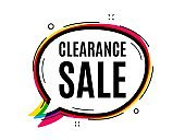 Clearance sale symbol. Special offer price sign. Vector