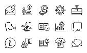 Education icons set. Included icon as Video conference, Windmill turbine, T-shirt design. Vector