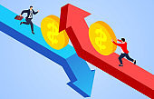 Growing and declining business, making money and losing money