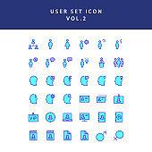 user filled outline icon set vol2