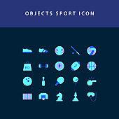 object sport flat style design icon set
