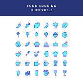 food cooking icon set filled outline set vol 2