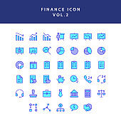 Business and finance icon filled outline set vol 2