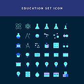 education flat style design icon set