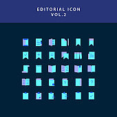 editorial flat style design icon set vol2