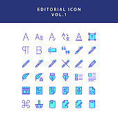 editorial filled outline icon set vol1