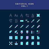 editorial flat style design icon set vol1
