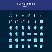 user  flat style design icon set vol2
