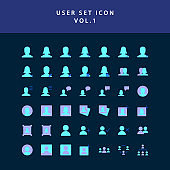 user  flat style design icon set vol1