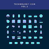 technology  flat style design icon set vol2