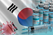 Vaccination campaign in South Korea. The fight against coronavirus in the World
