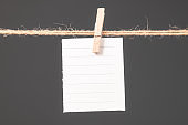 Note paper in clothespin