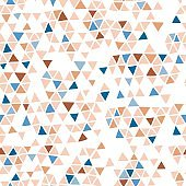 Minimalistic seamless geometric pattern with triangles