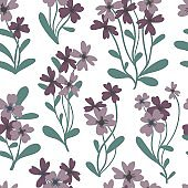 Floral seamless pattern. Simple spring or summer graphic design