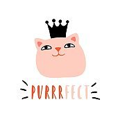Purrrfect. Funny cat princess with crown