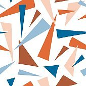 Pieces of cutout paper seamless pattern