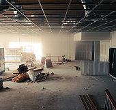 Construction site mess