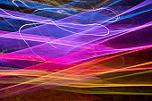 Crisscrossed spectrum of colorful light effects
