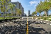 Clean city road