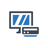 Mini computer icon