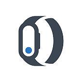 Fitness bracelet icon