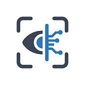 Retina scanning icon