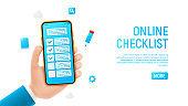 Online checklist banner concept