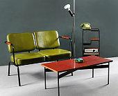 Retro furniture in living room