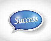 Success message bubble illustration