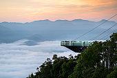 Ai Yerweng Skywalk Longest skywalk in southeast Asia in Betong , Thailand