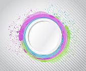 Ink circle drops illustration design