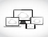 Cloud computing electronics illustration