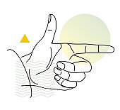 Human Hand - Finger pointing in one direction - Illustration