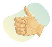 Human Hand - Like Gesture - Illustration