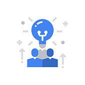 Idea People Icon Vector Illustration