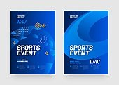 Poster template design for sports event. Sports background.