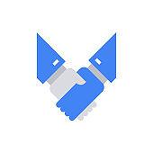 Hand Shake Icon Vector Illustration .