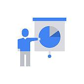 Businessman Presentation Icon Vector Illustration