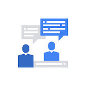 Consultation Icon Vector Illustration .