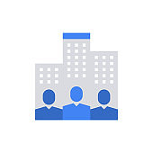 Company People Business Teamwork Icon Vector Illustration