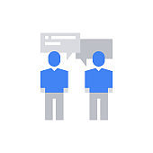 People Business Talk Icon Vector Illustration