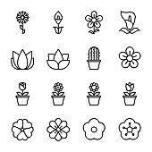 flower icons vector illustrator .