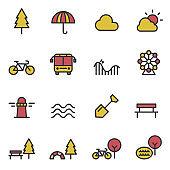 park icon . outdoor vector illustration